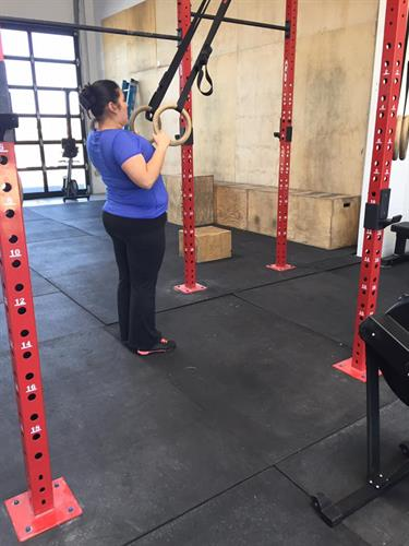 New member working on ring rows as a modification for pull ups.