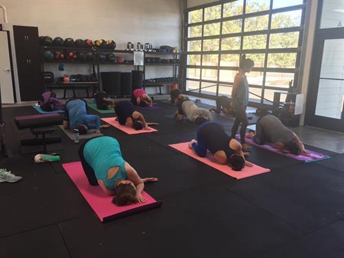 Yoga class with Yogi Sheila San Juan.