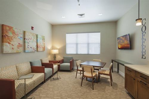 Coffee Lounge, free coffee is included for residents and prospective residents. Feel free to swing by our leasing office!