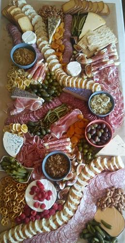 Favorite thing to do?  Cheese and Charcuterie boards!  We offer a variety of options with prices that will make you smile.