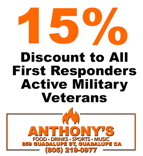 15% Discount First Responders, Active Duty and Veterans