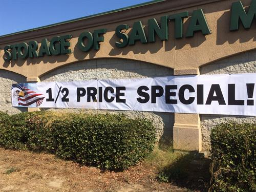 1/2 Price Special!