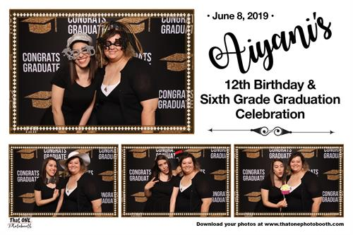 Graduation AND Birthday Party - Black, White, and Gold theme
