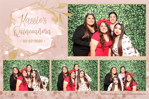 Quinceañera Pink and Green theme
