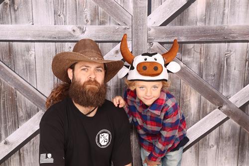 Cowboy Theme with Barn Door Backdrop at Santa Maria Elks Rodeo Parade 2019