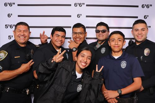 SMPD with Police Lineup Theme at 2019 Downtown Fridays in Santa Maria