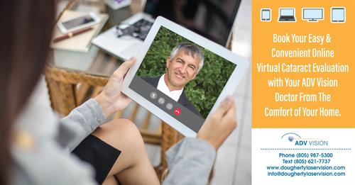 Book your easy & convenient online Virtual cataract Evaluation!