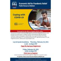 SBA: Economic Aid for Pandemic Relief Public Resource Webinar