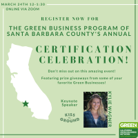 Green Business Program of Santa Barbara County Certification Celebration