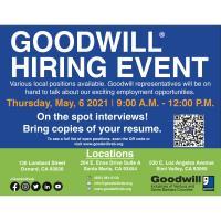 Goodwill Hiring Event