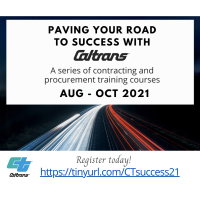Paving Your Road To Success With CalTrans: A series of contracting and procurement training courses