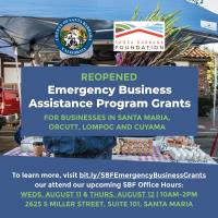 Santa Barbara Foundation: REOPENED - Emergency Business Assistance Program Grants