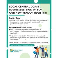 Local Central Coast Businesses: Sign Up For Our New Vendor Registry