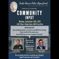 Santa Maria Police Department: Community Input Meeting