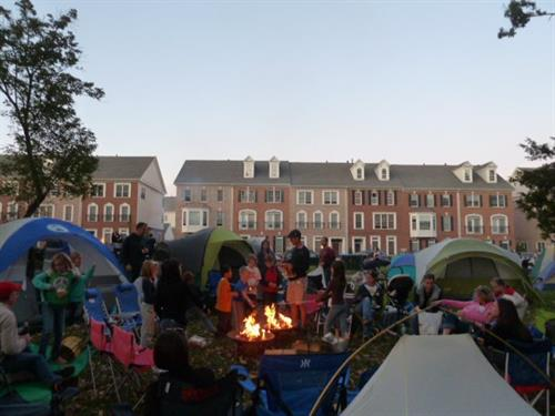 There's always something fun going on in Brambleton! The Community Association plans year-round events to keep you connected to your neighbors, like the annual Neighborhood Camp Out!