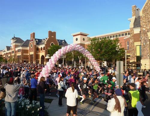 The Brambleton Town Center hosts multiple charity runs throughout the year.