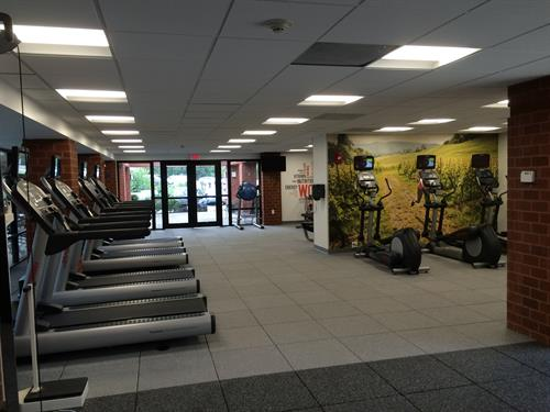 Our newly expanded and renovated fitness center offers extensive space and all newequipment.