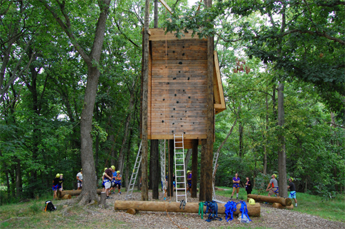 High and low element Challenge Course for team building.