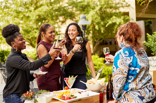 Over 25 team building activities including wine seminars, cooking classes, and scavenger hunts.