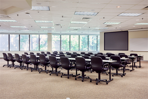 250 meeting rooms and breakout spaces.