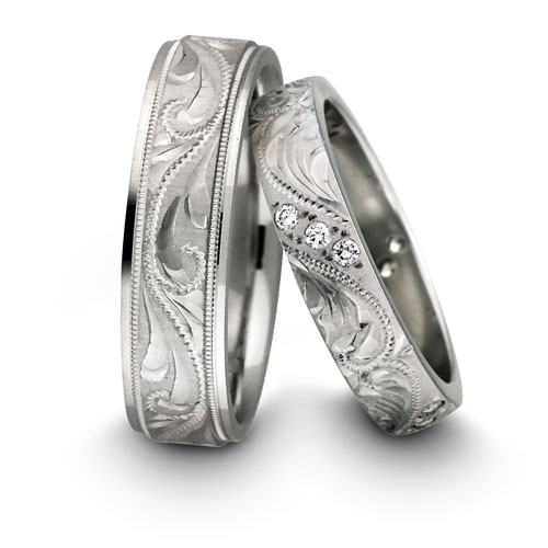 Handcared Wedding Bands