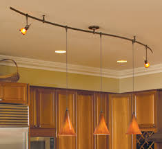 Low- Voltage Pendants, custom bend monorail.
