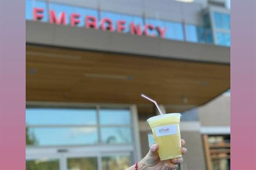 Donated Smoothies to Issaquah Swedish Hospital