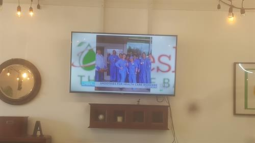 Featured on the News during Covid19 for our donations to our expanded community