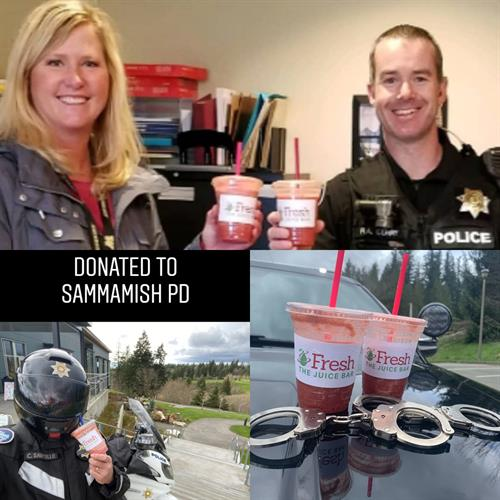 Donated Smoothies to First Responders