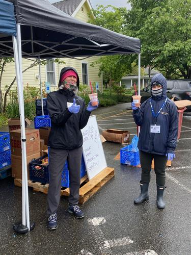 Donated Smoothies to Issaquah Food Bank