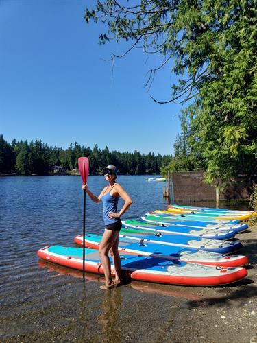 Outdoor Stand Up Paddleboard Fitness