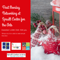 First Monday Networking @ Spruill Gallery benefiting Christmas for Kids