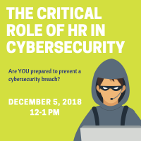 HR Compliance Series: The Critical Role of HR in Cyber Security