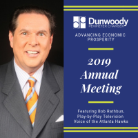 Dunwoody Perimeter Chamber Celebrates Another Year of Service with Annual Meeting featuring Voice of the Atlanta Hawks, Bob Rathbun