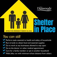 Dunwoody issues shelter-in-place order to help protect against COVID-19