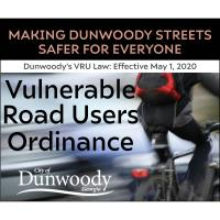 Dunwoody's Vulnerable Road Users (VRUs) Ordinance goes into effect on May 1