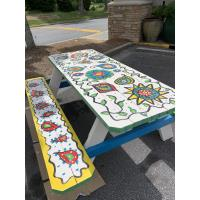 Painted Picnic Tables Promote Outdoor Dining