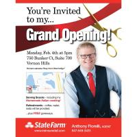 Grand Opening/ Ribbon Cutting Anthony Fiorelli State Farm - FREE