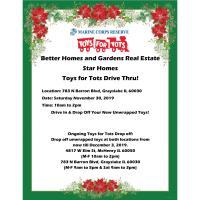 Better Homes and Gardens Real Estate Star Homes Toys for Tots Drive Thru