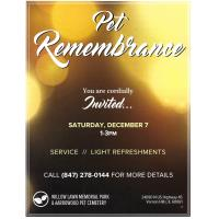 Pet Remembrance