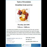 Taste of Brookdale Breakfast Grab & Go