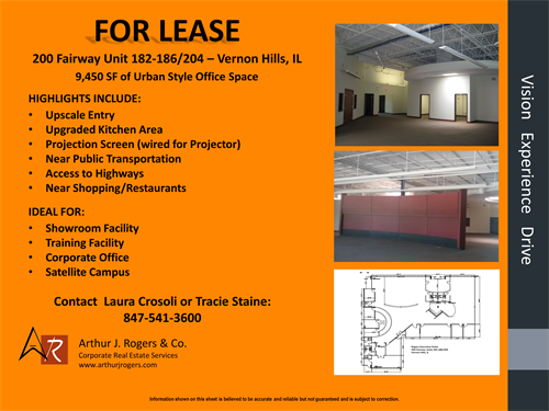 9,450 SF Urban Style Office Suite
