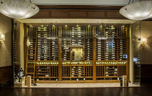 Custom Wine Cellar in a Public Dining Room