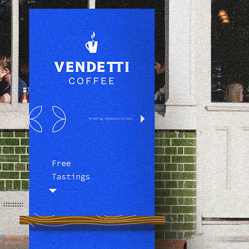 Logo for a coffee company in Memphis.