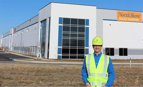 NorthShore President Adam Greenberg walks the new building, which will be ready this spring.