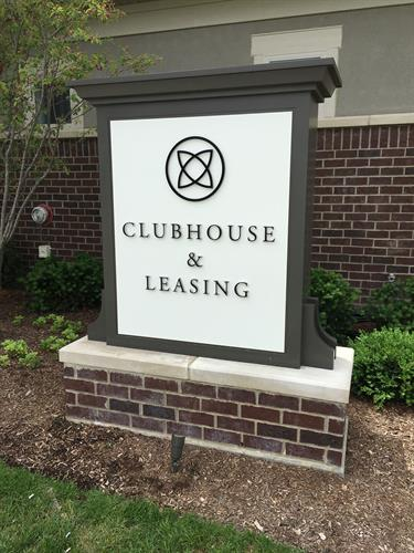 Clubhouse monument sign in Deerfield, Il