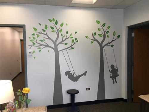 Wall graphics at Rockland School, Libertyville, Designs and installed by Signs Now Mundelein