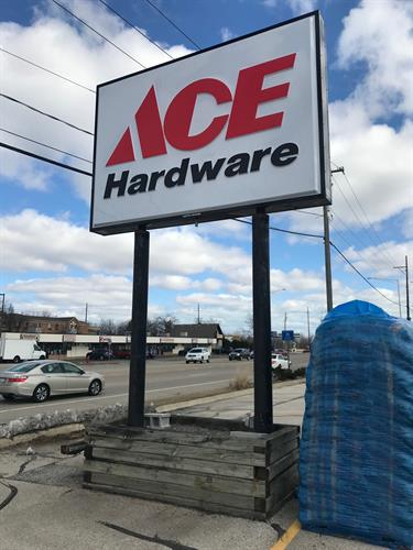 Ace Hardware Freestanding Sign