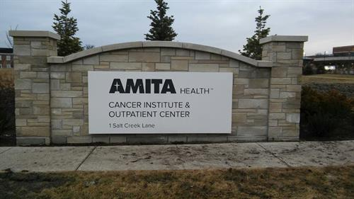 Amita Health Freestanding Sign
