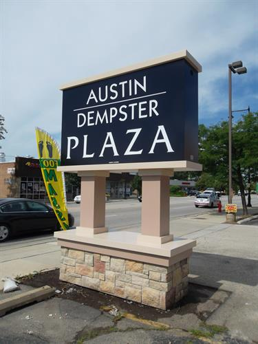 Austin Dempster Plaza Freestanding Sign